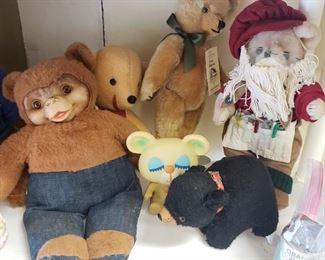 vintage plush, stuffed animals