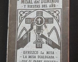 1960s Catholic Spanish Missal book