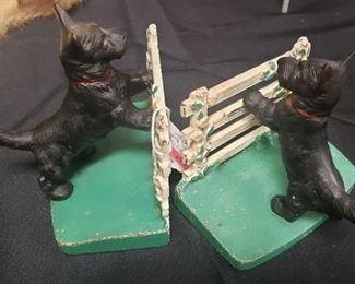 Rare Hubley Scottie Dog Cast Iron Bookends
