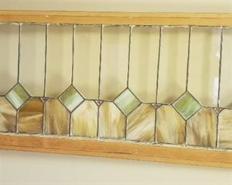 large stain glass panel