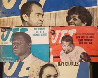 Vintage Jet Magazine magazines, civil rights era African American periodicals