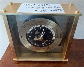 Seiko World Time Clock. Works. $125