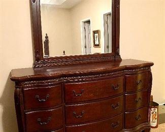 "$400 Dresser with mirror 65.5"" x 18.5"" x 37"""
