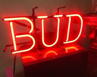 """$125 Budweiser """"Bud"""" neon sign, 18""""x9"""""""