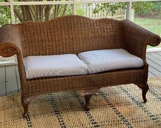 """Wicker loveseat $400 1 available 64x 28x34"""""""