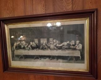 1800'S OLD GERMAN LITHOGRAPH of LAST SUPPER