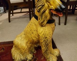 Large Painted Plaster Dog