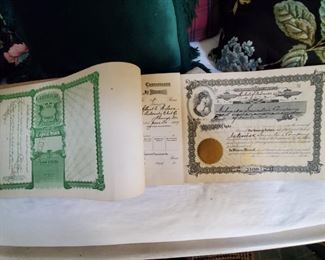 Book of Early 1900's Unused Stock Certificates