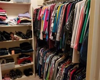 SAMPLING OF  ABOUT 25% OF THE CLOTHES IN HOUSE