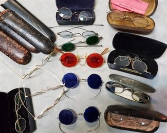 COLLECTION of MID-1800's EYEGLASSES