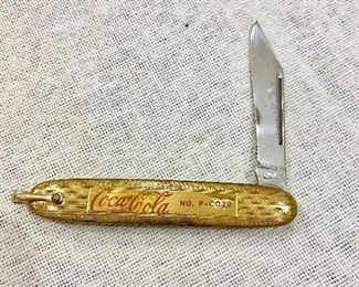 Additional photo of blade on Coca Cola knife.