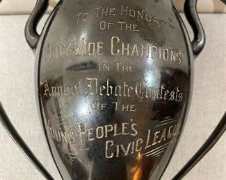 Additional photo of trophy lettering.