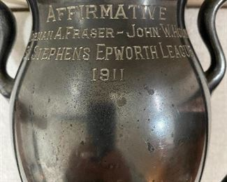 Additional photo of back of trophy.