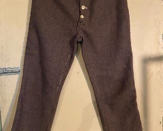 Rendezvous Mountain Man wool pants with bone buttons. Size approx. 32/30. $25