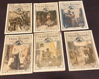 """Victor Records """"1919"""" booklets of new records of the latest additions to the great Library of Music which is listed in the Victor Record Catalogue. (6) $20"""