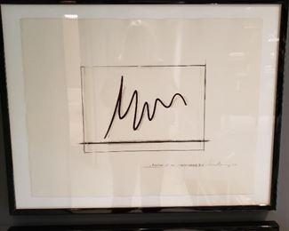 Set of three Benar Venet lithographs, signed, numbered and dated $2,000.00 each