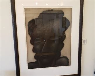 Robert Gordy, aquatint in black on rives paper, 44 1/2 x 35 1/2 inches, signed, numbered 50/60 and dated lower right $850.00