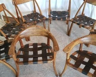 6 wishbone Chairs and 2 captains chairs. Please contact me with your offers on this grouping. Estateannie@gmail.com.