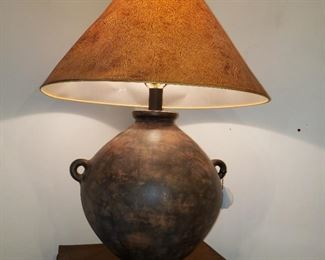 Large pottery table lamp