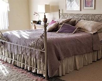 Vintage metal bed.
