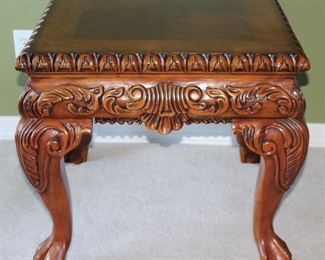 """Chippendale Style Ball & Claw Foot Occasional/Side Table (1 of 2)  (26W"""" x 28""""D X 25""""H)"""