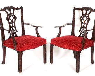 10 Chinese Chippendale Chairs