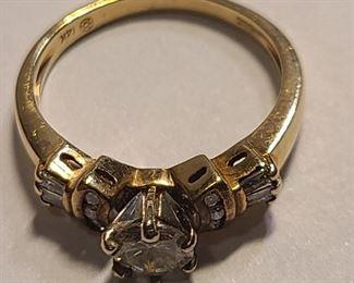 $650 .50 center diamond 14k