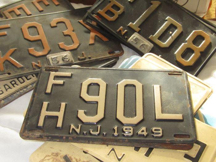 40s, 50s, 60s License Plates