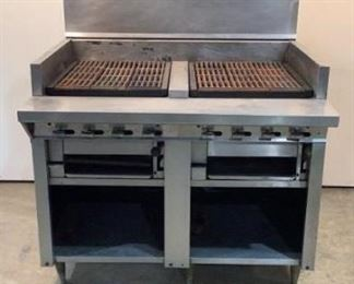 """Located in: Chattanooga, TN MFG Montague Model UF-48R Ser# IO-D-47720A Power (V-A-W-P) Natural Gas Stove Size (WDH) 4'W x 40""""D x 56""""H  **Sold as is Where is** Unable To Test"""