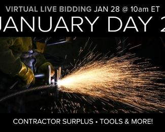 Welcome to our January Monthly Auction Day 2. This is an ONLINE ONLY AUCTION. Join us for a large selection of industrial, construction equipment, tools, and more! Questions please email Info@soldoncompass.com or call 800-729-6466.  Pre-Bidding Opens 1/21/2021 @ 10:00 am ET. Bidding Begins Closing 1/28/2021 Starting @ 10:00 am ET.  Consignments are always welcome. Call 800-729-6466 or email Info@SoldonCompass.com