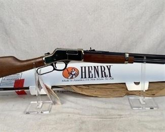 """Serial - BB0117353 Mfg - Henry Model - H006 Caliber - .44 Magnum/Special Barrel - 20"""" Type - Rifle, Lever Action Located in Chattanooga, TN Condition - 1 - New This lot contains a new in the box Henry Golden Boy chambered in .44 Magnum/Special. This lever action rifle has a 20"""" octagonal barrel and beautiful walnut stock and forearm."""