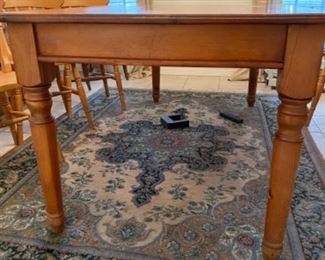"2-	English farm table 6' L x 35 ½""W x 30""H 		$325 25 ½"" clearance to the table"