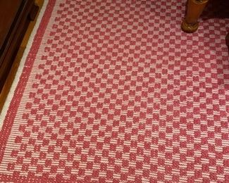 3. Burgundy France hand made rug. Pink and cream 8x10. $295.  Good condition-in guest room. (client paid over $5,000 for it - we have receipt)