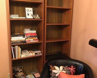 bookshelves, books