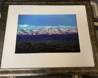 "**Now $60** $120   Framed colored photograph (Sangre de Christos?), unknown photographer, 25 1/2"" x 31 1/2"""