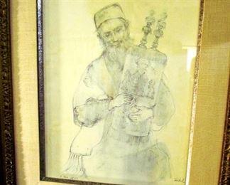 """Torah"" by Edna Hibel ... a stone engraving of Hibel's early Judaica works."