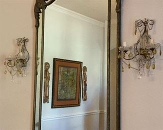 """625 ~ OBO~ Gorgeous French beveled mirror- 5 ' 4 1/2"""" HT x 35"""" WIDE"""