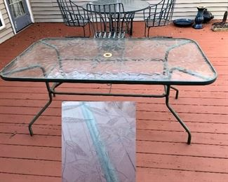 Large glass top party table!