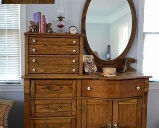 Keepsakes tall dresser with mirror
