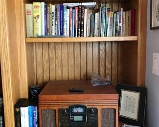 Crosley turntable, radio, CD player, great books and more