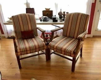 Two straight back chairs