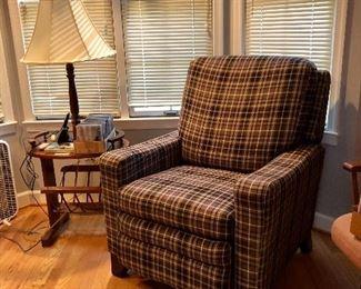 Lamp table, La-z-Boy recliner