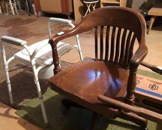 Nice vintage wood office chair