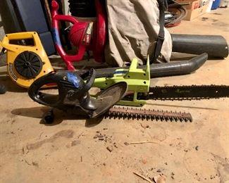 Toro Ultra blower Vac, Poulan Patriot EL-14, Black and Decker trimmer