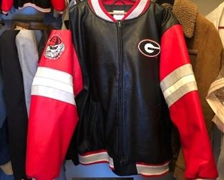 Leather Bulldog Jacket How bout those Dawg's!