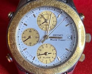 Seiko World Timer 5T52-6B40 WATCH