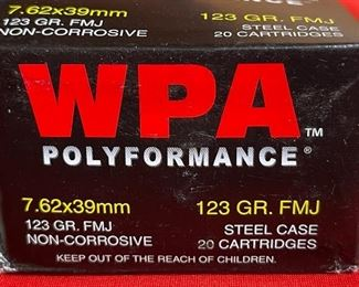 WOLF WPA Performance 7.62 123gr FMJ 240 Rounds