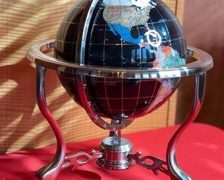 9in Gemstone Globe13x12x12inHxWxD