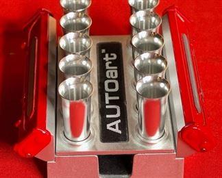AUTOart Diecast V10 Engine Card Holder Auto Art design2.25x4x4inHxWxD