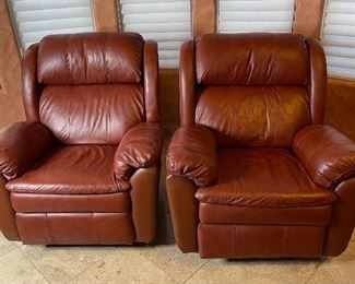 Priced separately. #1 Lane Furniture Leather Recliner43x38x38inHxWxD #2 Lane Furniture Leather Recliner43x38x38inHxWxD